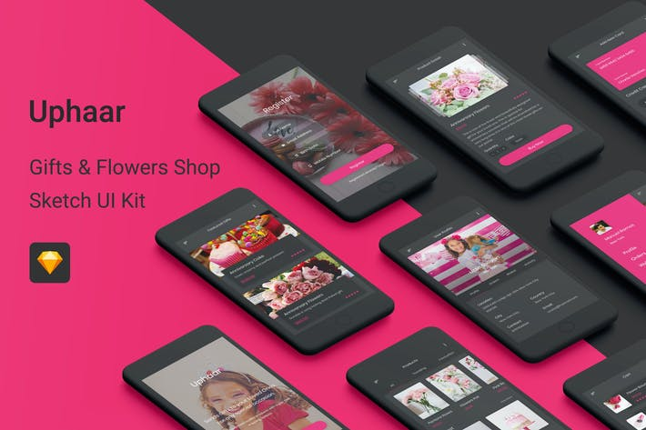 Thumbnail for Uphaar - Gifts & Flowers Shop Sketch UI Kit