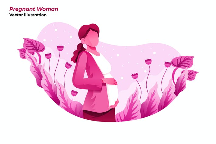 Pregnant Woman - Vector Illustration