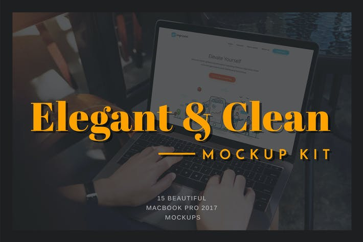 Cover Image For Elegant & Clean Macbook Pro Mockups