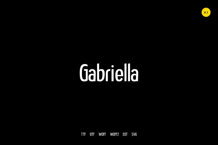 Thumbnail for Gabriella - Modern Typeface + WebFonts