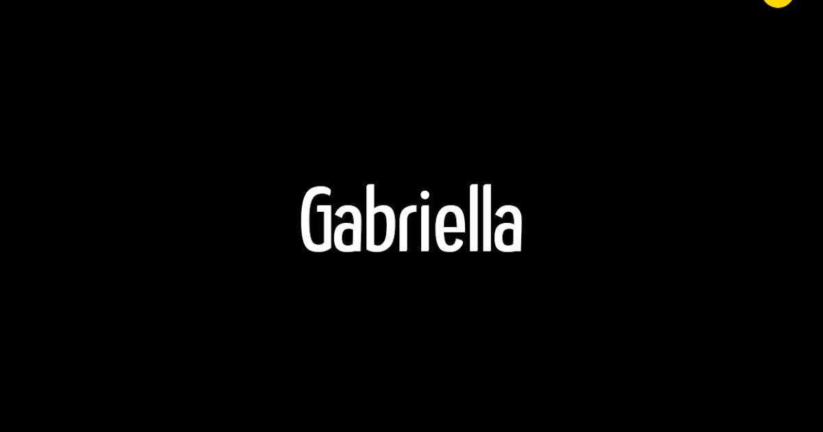 Download Gabriella - Modern Typeface + WebFonts by webhance
