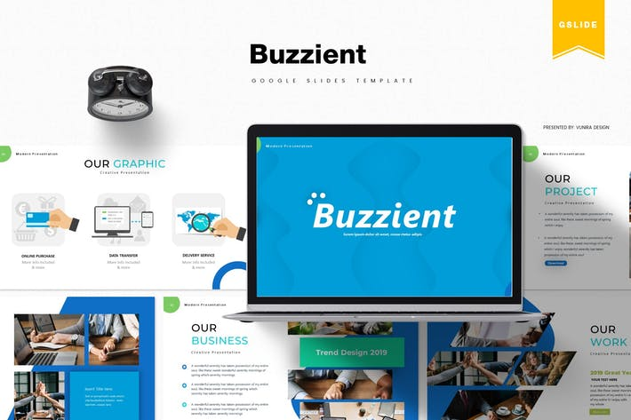 Thumbnail for Buzzient | Шаблон слайдов Google