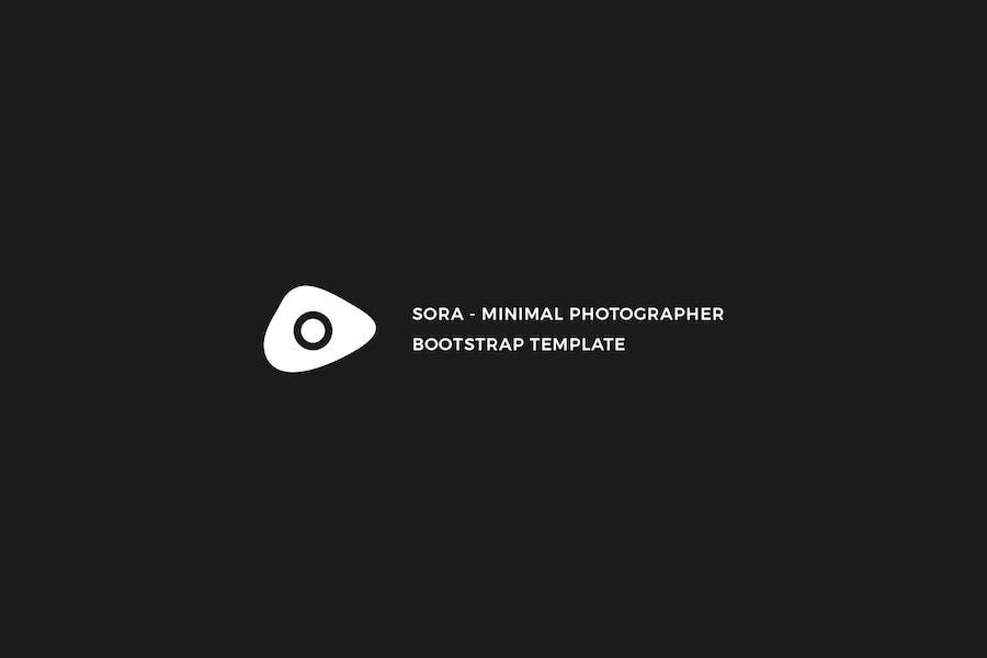 Sora - Minimal Photographer Template