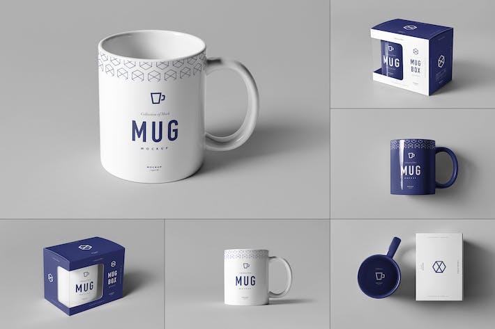Thumbnail for Mug & Box Mock-up