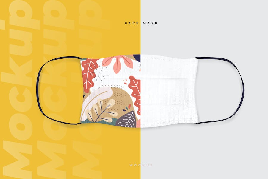Cotton Face Mask Mockup Template
