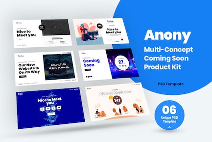 MUlti-Concept Coming Soon PSD Template Kit