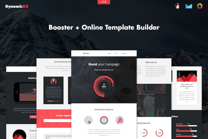 Cover Image For Booster - Responsive Creative Business Email