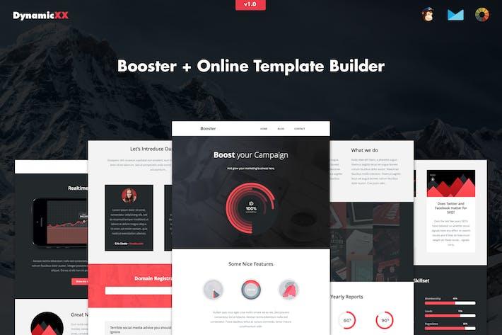 Thumbnail for Booster - E-mail empresarial criativo responsivo