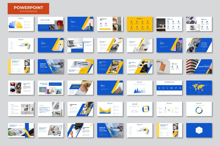 Thumbnail for Синяя оранжевая презентация Powerpoint