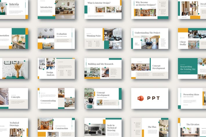 Thumbnail for INTERIA - Interior Design Powerpoint Template
