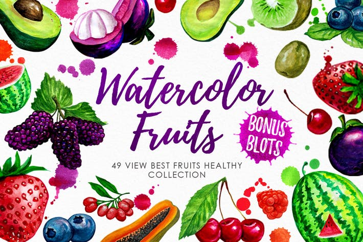 Thumbnail for Watercolor Fruits Vol. 3