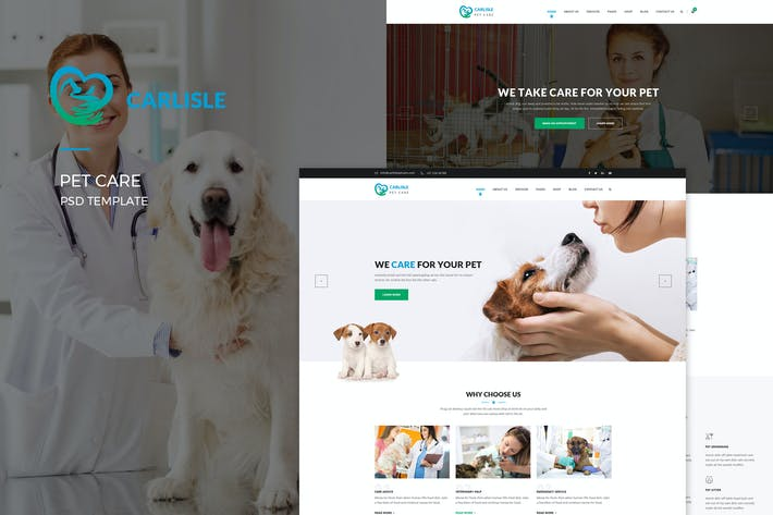 Thumbnail for Carlisle : Pet Care PSD Template