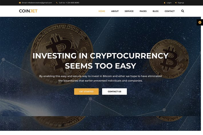 Thumbnail for CoinJet | Bitcoin & Crypto Currency HTML Template