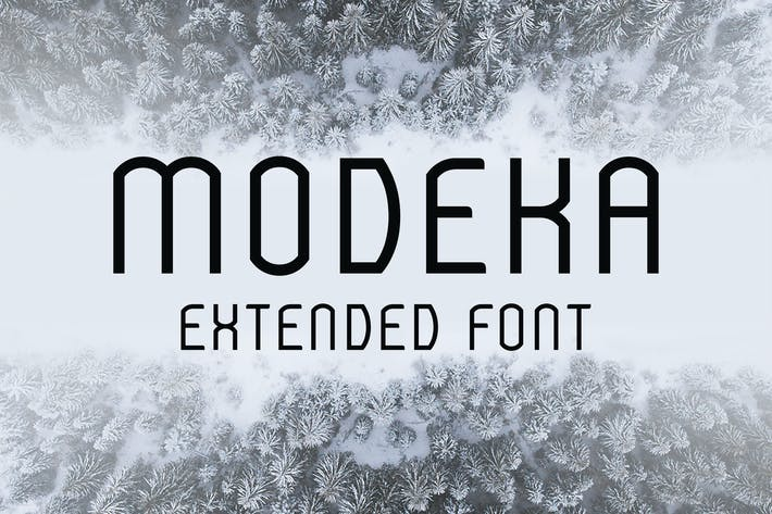 Thumbnail for Modeka Extended Font