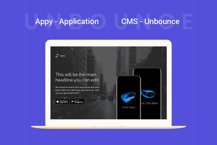 Thumbnail for Appy - Page de destination Unbounce de l'application