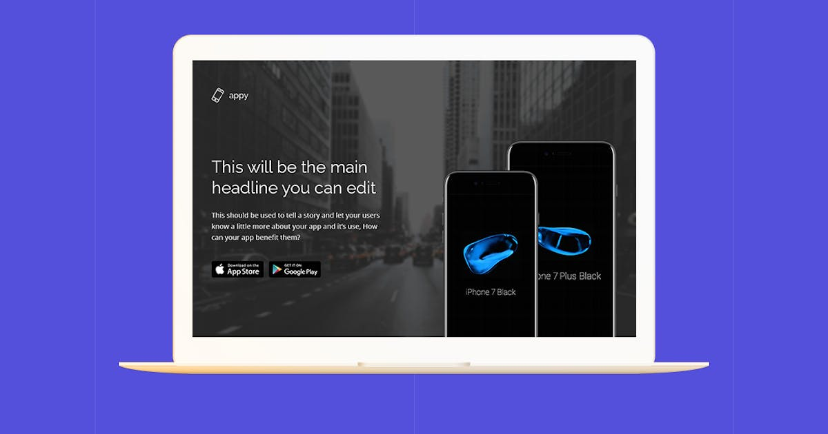 Appy - Application Unbounce Landing Page by Morad