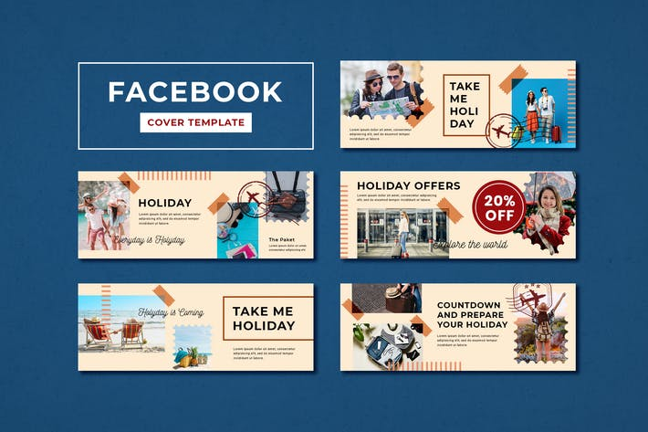 Thumbnail for Facebook Cover Template Summer Holiday