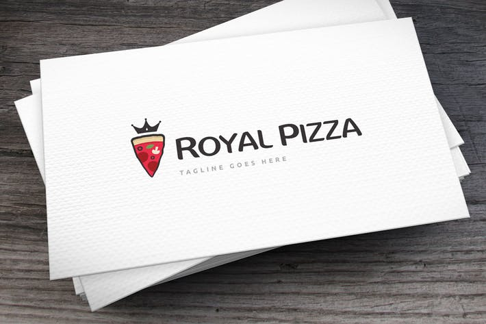 Royal Pizza Logo Template