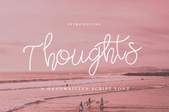 Thumbnail for Thoughts Font