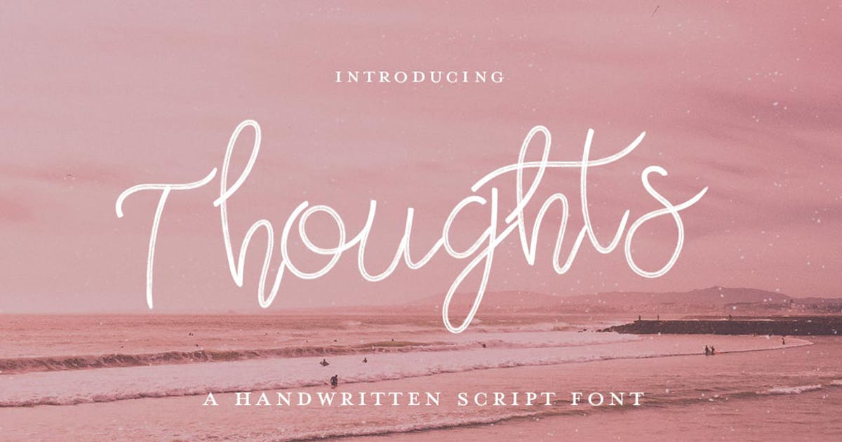 Thoughts Font by maroonbaboon