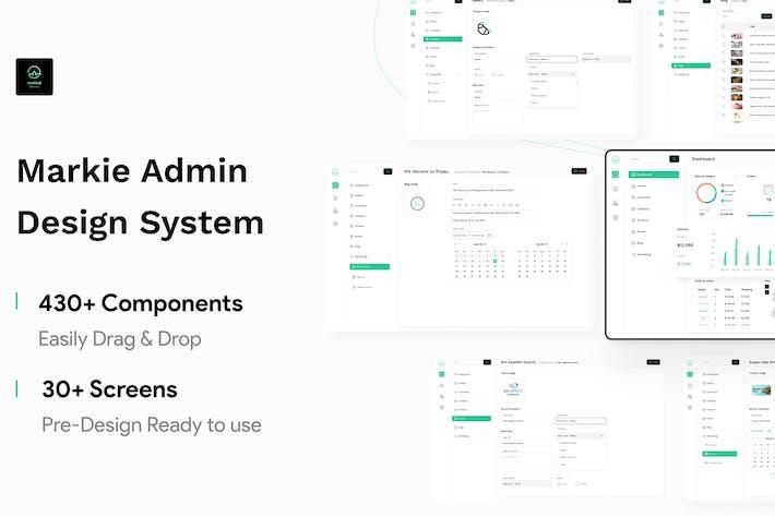 Markie Design System - Lebensmittelgeschäft Web Admin
