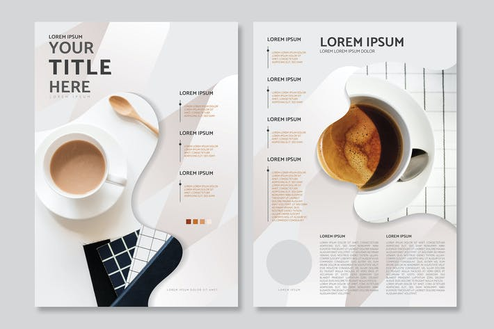 Thumbnail for Coffee poster design vector set
