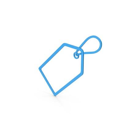 Symbol Label Blue