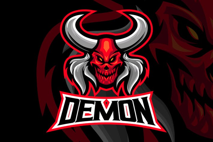 Thumbnail for Hell Demon Head Esport Logo