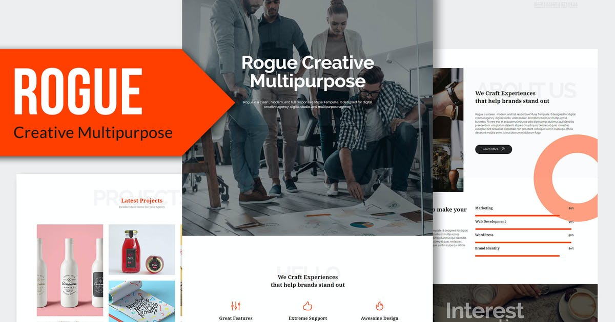 Download ROGUE - Creative Multi-purpose MUSE Template YR by Rometheme