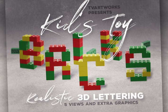 Thumbnail for Toy Bricks 3D Lettering