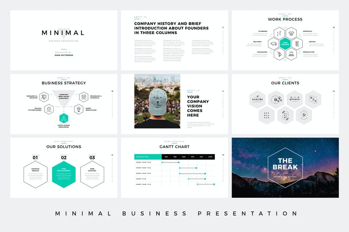 Thumbnail for Minimal Business Presentation PowerPoint Template