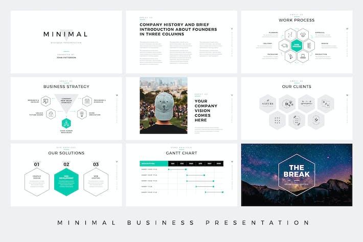 Thumbnail for PowerPoint Vorlage für minimale Geschäftspräsentation