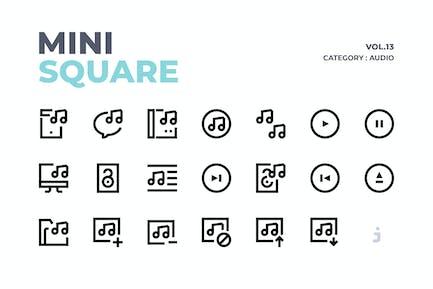 Mini square - 60 Audio Icons