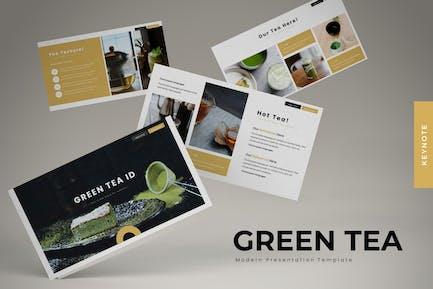 Зеленый чай - Шаблон Powerpoint