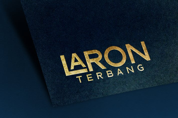 Thumbnail for Logo Mockup Textured with Gold Text