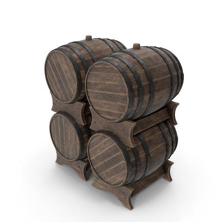 Деревянные бочки Установить Старый