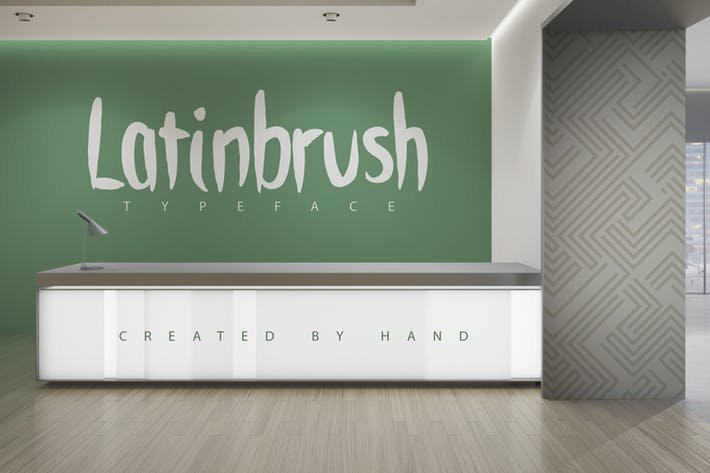 Thumbnail for Latinbrush Family Typeface