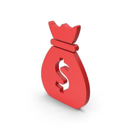 Symbol Money Bag Red
