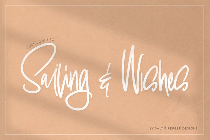 Thumbnail for Sailing & Wishes Script Font