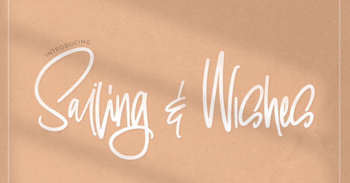 Download Sailing & Wishes Script Font by maroonbaboon
