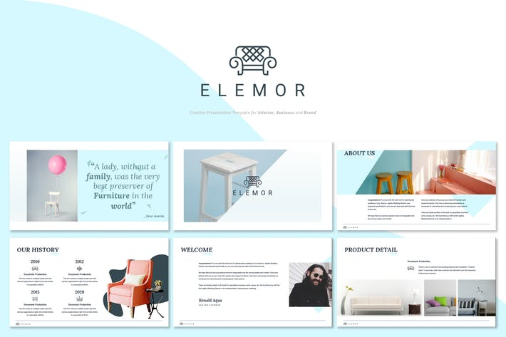 Thumbnail for Elemor - Creative Furniture Powerpoint Template
