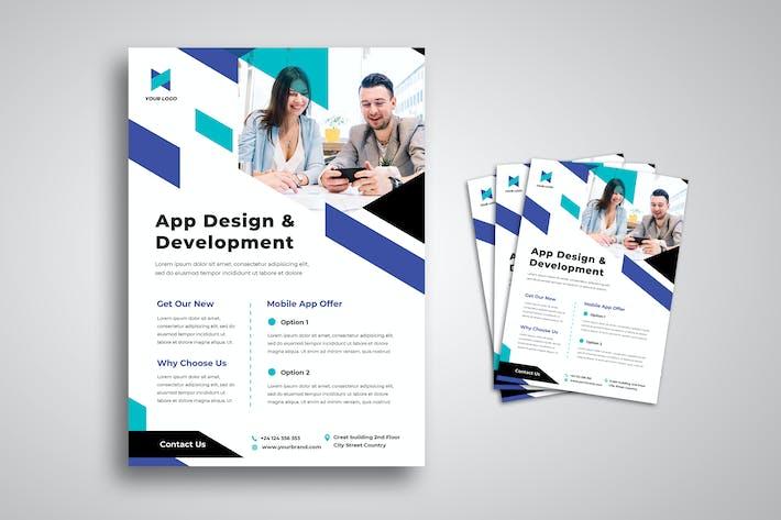 Thumbnail for Mobile Development Agency Flyer