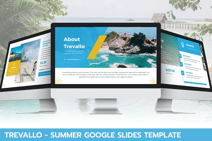 Thumbnail for Trevallo - Summer Google Slides Template