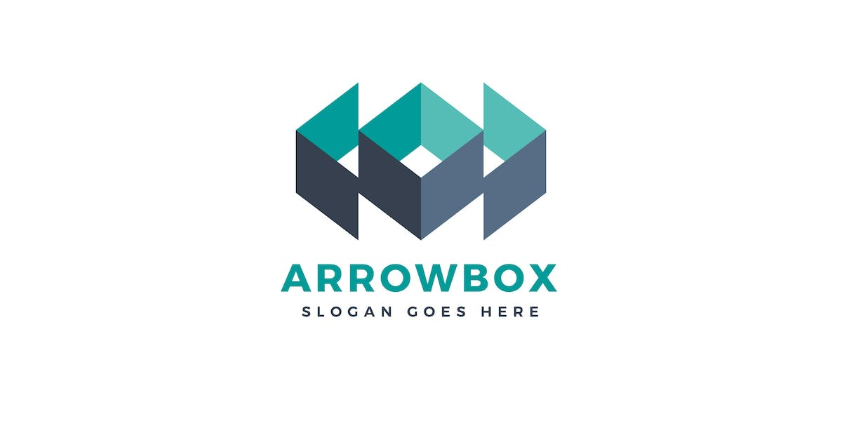 Download Arrow Box Logo Vector Template by Pixasquare