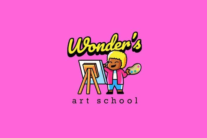 Thumbnail for Art School - Mascot Logo