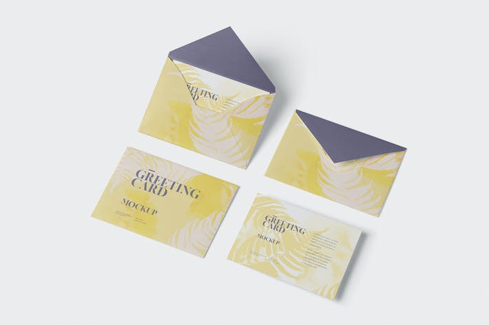 Thumbnail for Greeting Card Mockup with Envelope - A6 Size