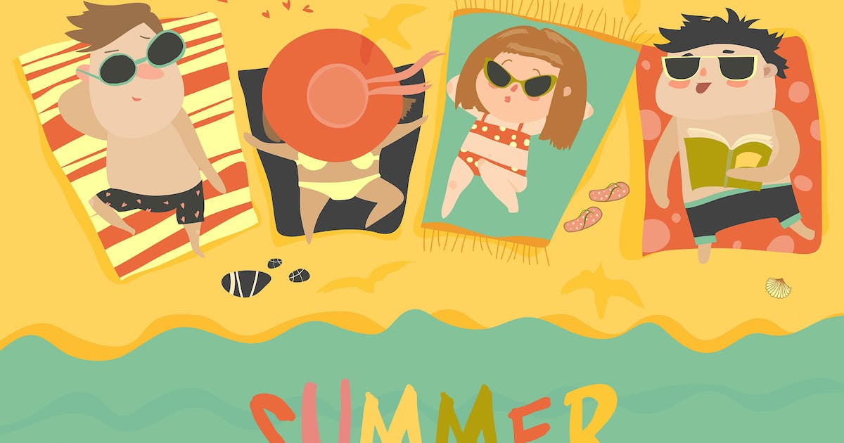 Download Children on the sunny beach. Summer by Unknow