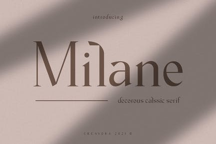 Milane - Fuente clásica Con serifa