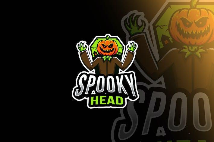 Thumbnail for Spooky Head Esport Logo Template