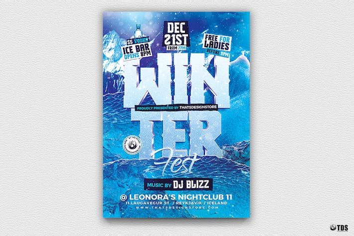 Thumbnail for Winter Festival Flyer Template V2